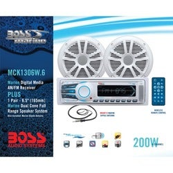 BOSS AUDIO MCK1306W.6 Marine Package Includes MR1306UA Single-DIN AM/
