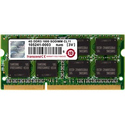 Transcend 4GB DDR3 1600 SO-DIMM CL11 2Rx8