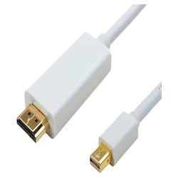 4XEM 10 FT Mini DisplayPort Male To HDMI Cable
