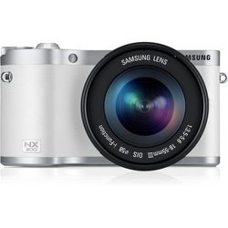 Samsung NX300 20.3MP White Mirrorless Digital Camera with 18-55mm Lens