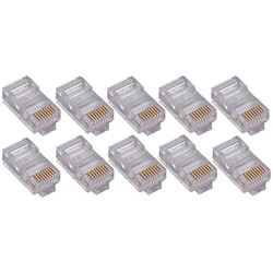 4XEM 50 Pack Cat5E RJ45 Modular Ethernet Plugs for Stranded or Solid