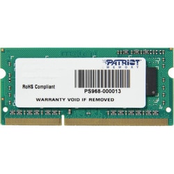 Patriot Memory DDR3 4GB PC3-10600 (1333MHz) SODIMM