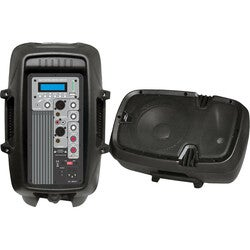 Pyle 10'' 600 Watt Powered Two-Way PA Speaker with MP3/USB/SD Playback
