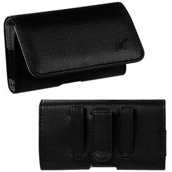 INSTEN Black/ Grey Textured Horizontal Pouch 2901 for Apple iPhone 5/ 5S/ SE