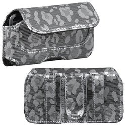 INSTEN Silver/ Grey Watermark Horizontal Pouch for LG UX700 Bliss