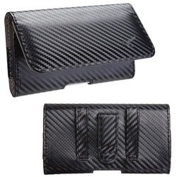 INSTEN Black/ Grey Braided Pouch for Sony Ericsson LT28AT Xperia Ion