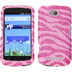 INSTEN Zebra Pink/ Hot Pink Phone Case Cover for CoolPad 5860E Quattro 4G