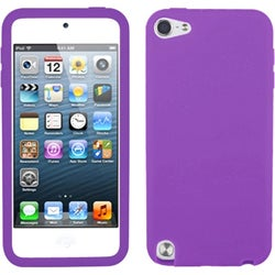 Insten Purple Silicone Skin Gel Rubber Case Cover For Apple iPod Touch 5th/ 6th Gen