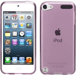 Insten Purple Clear Jelly TPU Rubber Candy Skin Matte Case Cover For Apple iPod Touch 5th/ 6th Gen