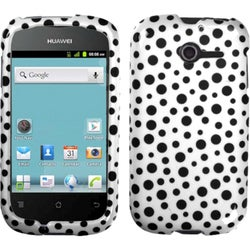 INSTEN Black Mixed Polka Dots Phone Case Cover for Huawei M866 Ascend Y