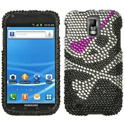 INSTEN Skull Diamante Phone Case Cover for Samsung T989 Galaxy S II