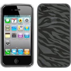 INSTEN Smoke Zebra Skin Candy Skin Phone Case Cover for Apple iPhone 4/ 4S