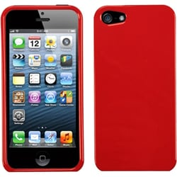 INSTEN Solid Flaming Red Phone Protector Case for Apple iPhone 5/ 5C/ 5S/ SE