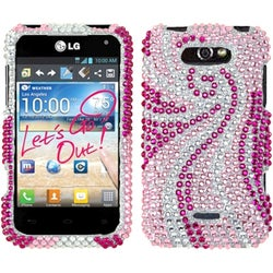 INSTEN Phoenix Tail Diamante Protector Phone Case Cover for LG MS770 Motion 4G