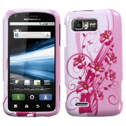 INSTEN Blooming Lily Phone Protector Phone Case Cover for Motorola MB865 Atrix 2