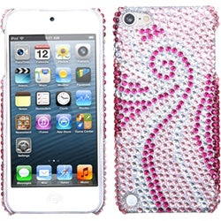 Insten Pink Phoenix Tail Hard Snap-on Rhinestone Bling Case Cover For Apple iPod Touch 5th/ 6th Gen