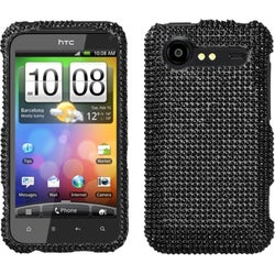 INSTEN Black Diamante 2.0 Phone Case Cover for HTC ADR6350 Droid Incredible 2