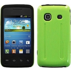 INSTEN Green Hybrid Phone Case Cover for Samsung M820 Galaxy Prevail