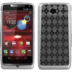 INSTEN T-Clear Argyle Skin Phone Case Cover for Motorola XT907 Droid Razr M