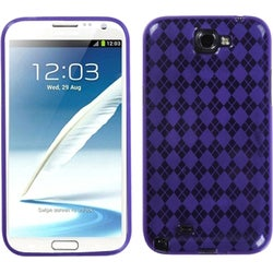 INSTEN Purple Argyle Phone Case Cover for Samsung Galaxy Note II/ Note 2 N7100