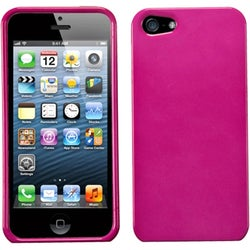 INSTEN Solid Hot Pink Hard Plastic Shell Phone Case for Apple iPhone 5/ 5S/ SE