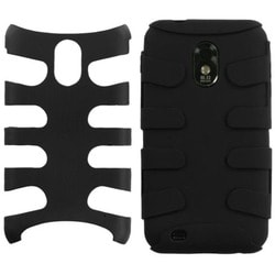 INSTEN Black Fishbone Phone Case Cover for Samsung Epic 4G Touch D710