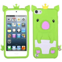 Insten Green/ White 3D Pig Silicone Skin Gel Rubber Case Cover For Apple iPod Touch 5th/ 6th Gen