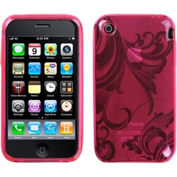 INSTEN Pink Morning Glory Candy Skin Phone Case Cover for Apple iPhone 3G/ 3GS