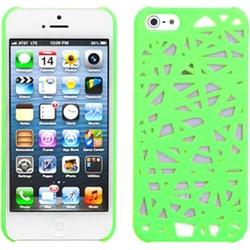 INSTEN Green Bird Nest Mesh Hard Plastic Phone Case for Apple iPhone 5/ 5S/ SE