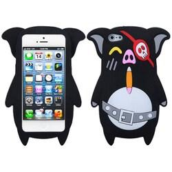INSTEN Black Pirate Skull Pig Phone Case for Apple iPhone 5/ 5S/ SE