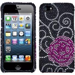 INSTEN Rose Flower Diamante Phone Case for Apple iPhone 5/ 5S/ SE