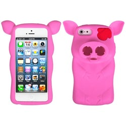 INSTEN Piggy Soft Silicone Phone Case for Apple iPhone 5/ 5S/ SE