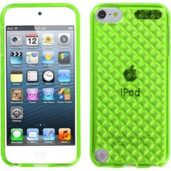Insten Green Clear Argyle TPU Rubber Candy Skin Glossy Case Cover For Apple iPod Touch 5th/ 6th Gen