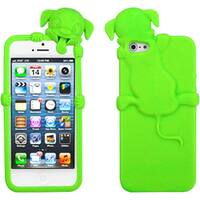 INSTEN Electric Green Dog Phone Case for Apple iPhone 5/ 5S/ SE