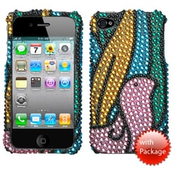 INSTEN Birdy/ Premium Diamante Phone Case Cover for Apple iPhone 4S/ 4
