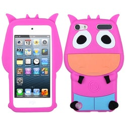 Insten Hot Pink/ Light Blue 3D Cow Silicone Skin Gel Rubber Case Cover For Apple iPod Touch 5th/ 6th Gen