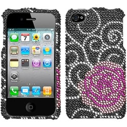 INSTEN Rosey Diamante Phone Case Cover for Apple iPhone 4S/ 4