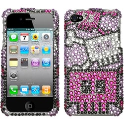INSTEN Robot Diamante Phone Case Cover for Apple iPhone 4S/ 4