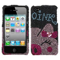 INSTEN Piggy Power Diamante Phone Case Cover for Apple iPhone 4S/ 4