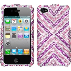 INSTEN Cautions/ Diamante Phone Case Cover for Apple iPhone 4S/ 4