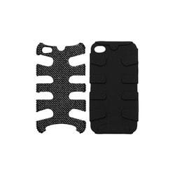 INSTEN Black Diamante/ Black Fishbone Phone Case Cover for Apple iPhone 4S/ 4