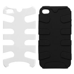 INSTEN Ivory White Fishbone Phone Case Cover for Apple iPhone 4S/ 4