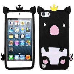 Insten Black/ White 3D Pig Silicone Skin Gel Rubber Case Cover For Apple iPod Touch 5th/ 6th Gen