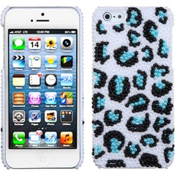 INSTEN Leopard/ Black/ Blue/ Pearl Diamante Phone Case for Apple iPhone 5 / 5S / SE
