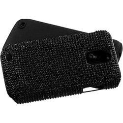 INSTEN Black/ Diamante Fusion Phone Case Cover for Samsung T989 Galaxy S II