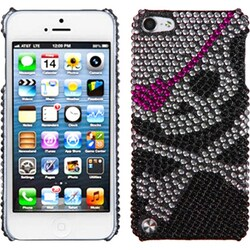 Insten Black/ Silver Skull Hard Snap-on Diamond Bling Case Cover For Apple iPod Touch 5th/ 6th Gen
