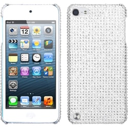 Insten Silver Hard Snap-on Diamond Bling Case Cover For Apple iPod Touch 5th/ 6th Gen