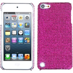 Insten Hot Pink Hard Snap-on Diamond Bling Case Cover For Apple iPod Touch 5th/ 6th Gen