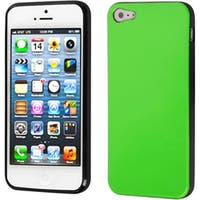 INSTEN Apple Green/ Black Candy Skin Phone Case for Apple iPhone 5/ 5S/ SE