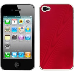 INSTEN Red Cosmo Back Phone Case Cover for Apple iPhone 4S/ 4